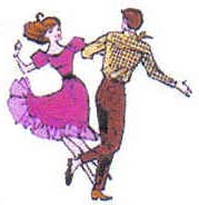 Square dance couple x Newsletter flipped